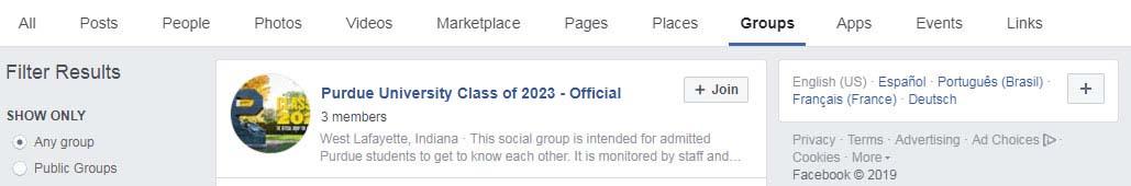 Class of 2023 Facebook - Undergraduate Admissions - Purdue University