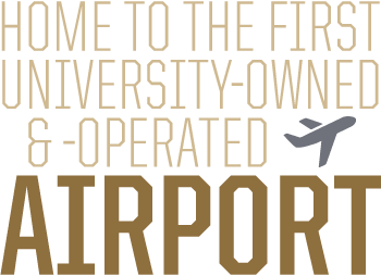 Home to the first university-owned and -operated airport