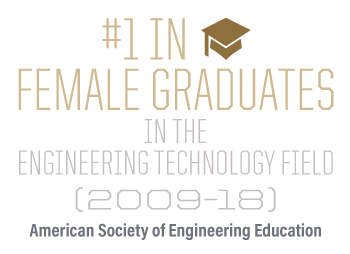 #1 in female graduates in the engineering technology field