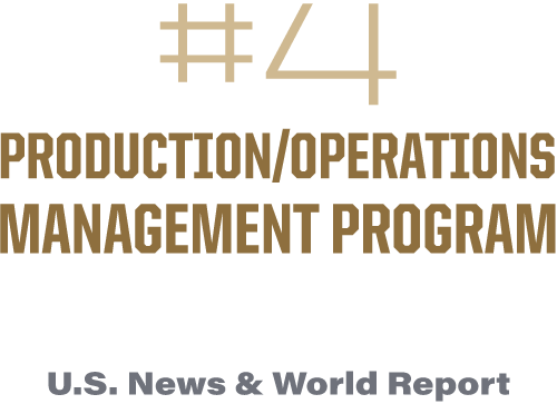 #4 Production/Operations Management program in the U.S.