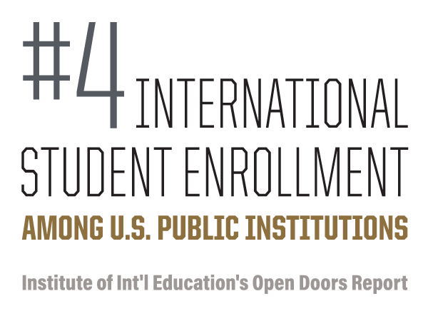 #4 international student enrollment among U.S. institutions