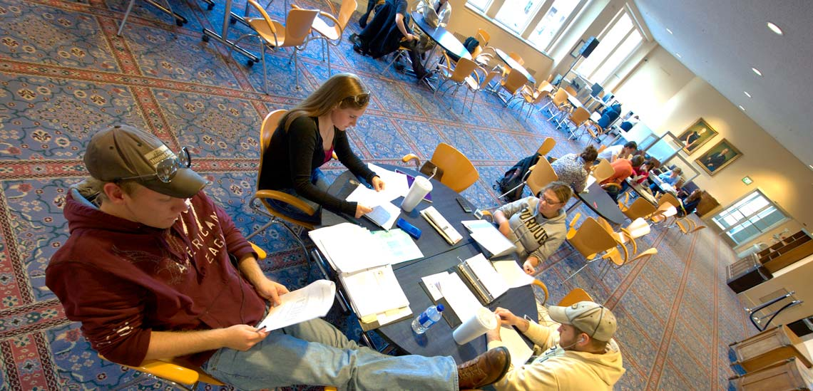 students studying in Krannert